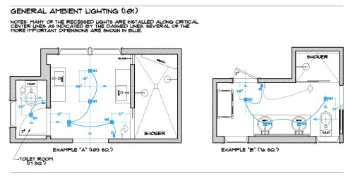 small resolution of lighting room by room the full bath brad jenkins incbathroom lighting 101 general recessed floor plan
