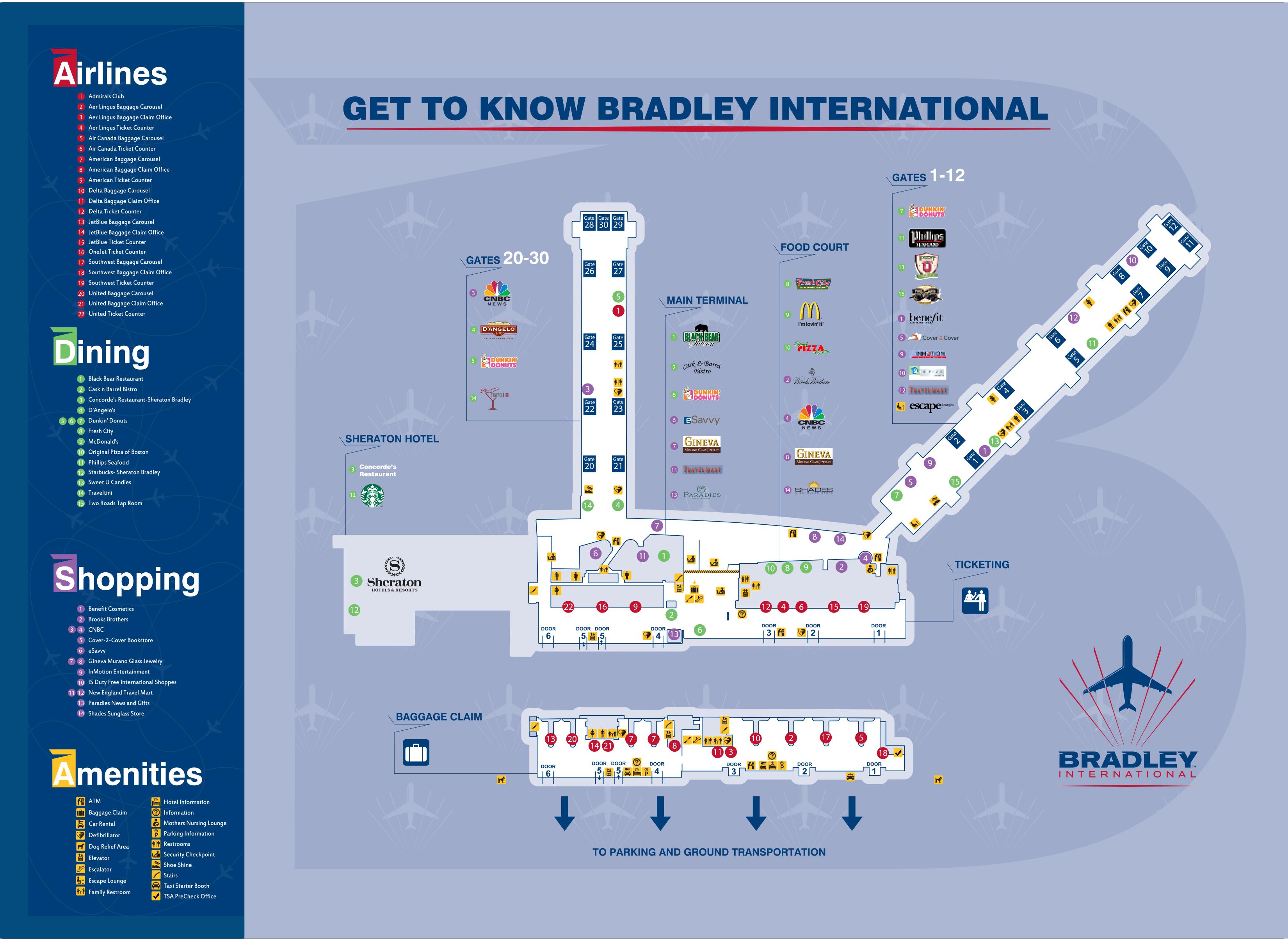 Maps  Bradley International Airport
