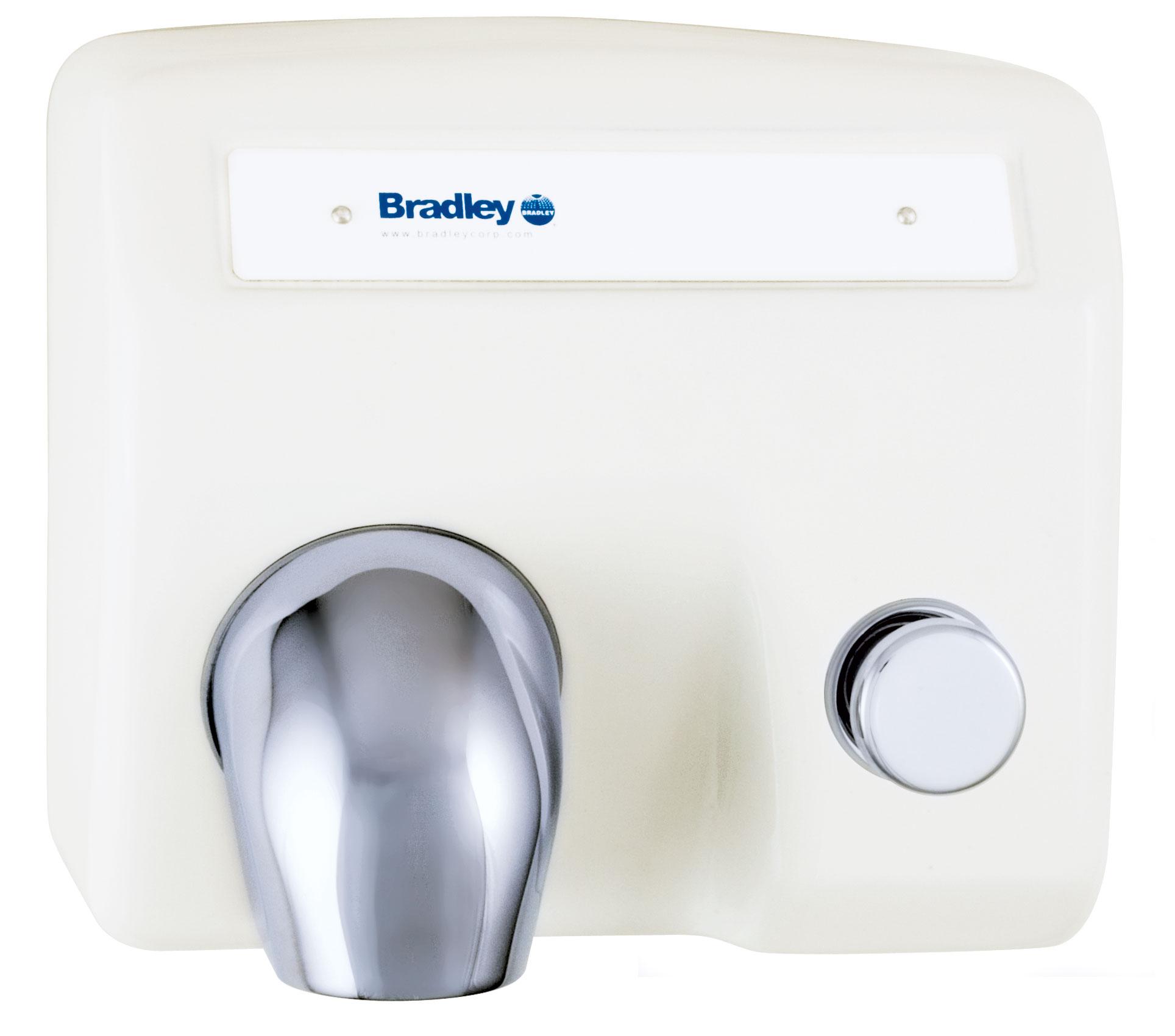aerix hand dryer, push button-operated - bradley corporation