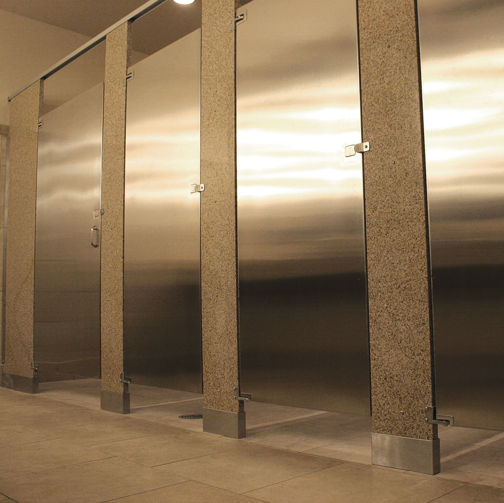 Fusion Granite  Stainless Steel Partitions  Bradley