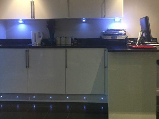 kitchen electrics island with wine fridge bradley stoke electrical