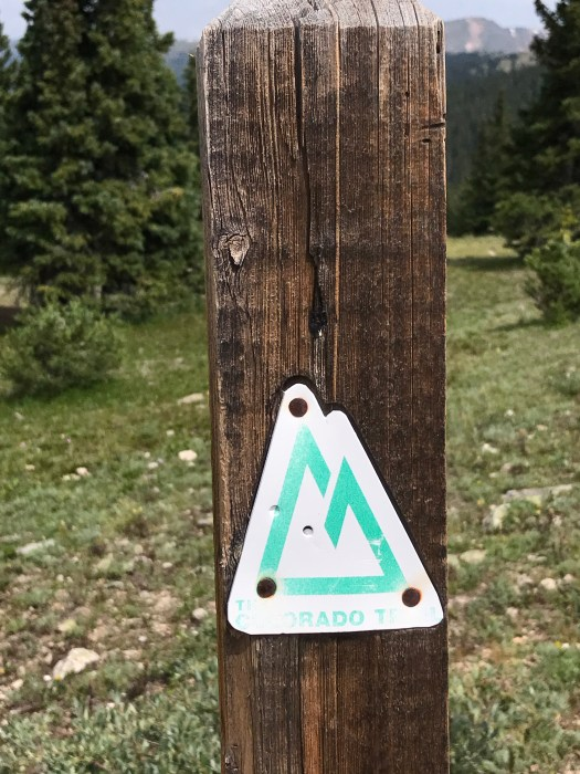 Colorado Trail marker shield