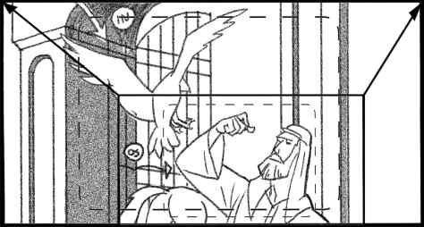 Storyboard by Brad Rader for the proposed animated series Children of the Wind
