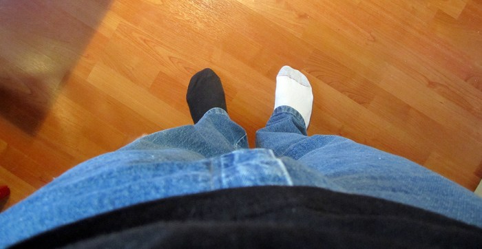 March 26th: Mismatched socks.