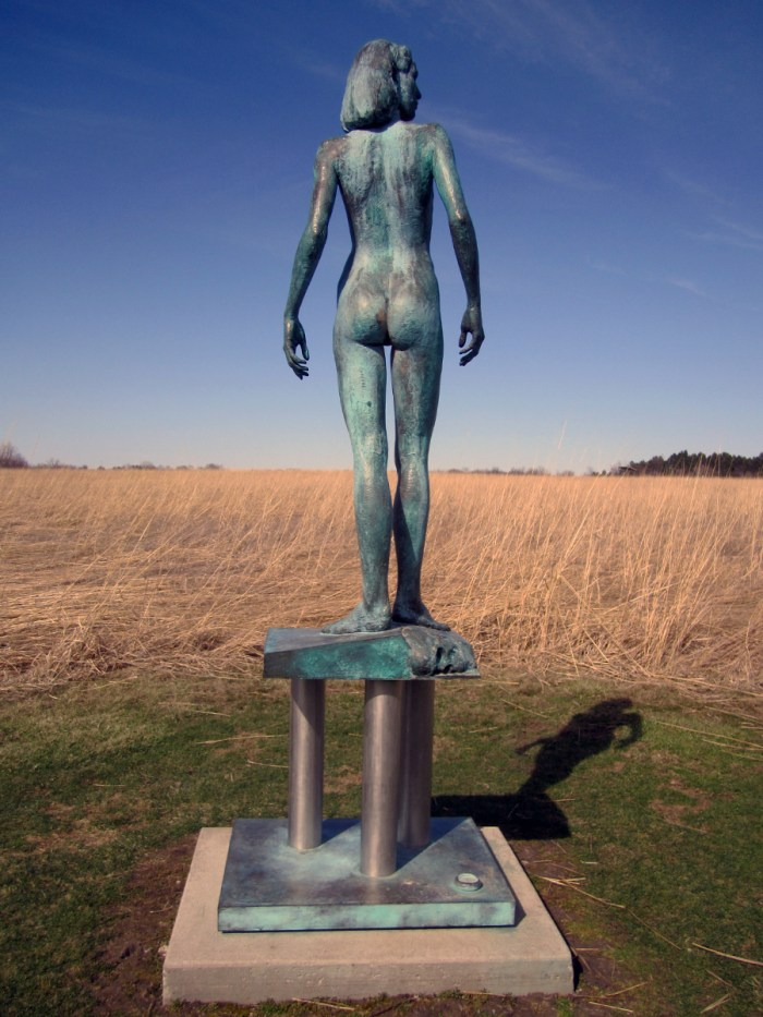 April 8th: Naked woman watching over a prairie (Urbana, IL)