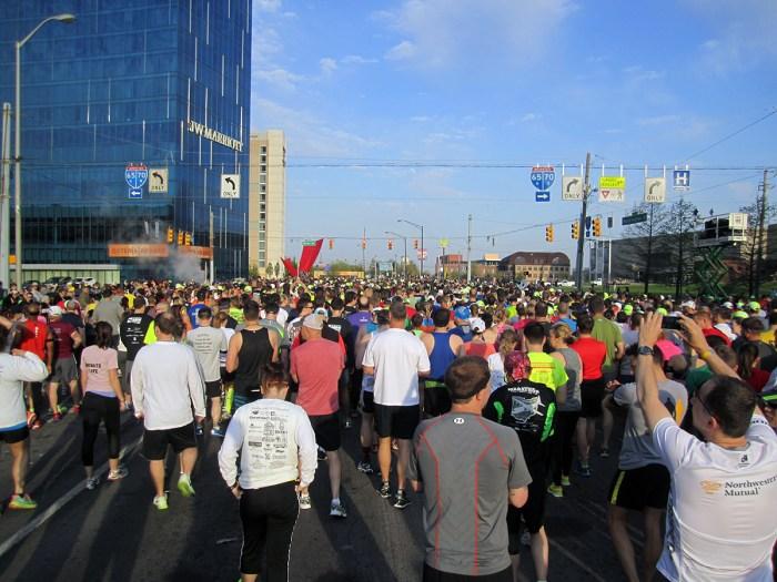 April 27th: Start of the Mini Marathon