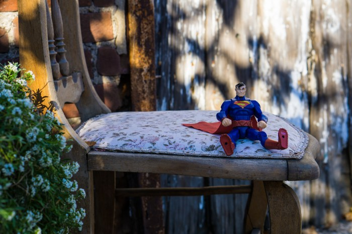 Superman on a Chair