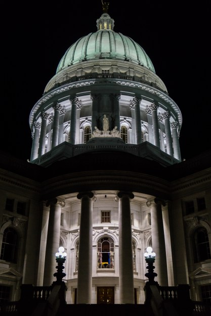 July 4th: State capitol building, Madison WI