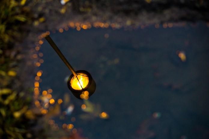 Dec 8th: Lightpost in Water