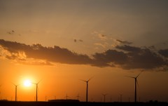 April 17: Windmills At Sunset