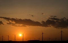 April 16: Windmills At Sunset