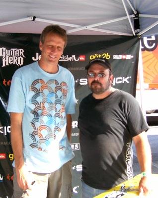 Tim Spinosi and Tony Hawk