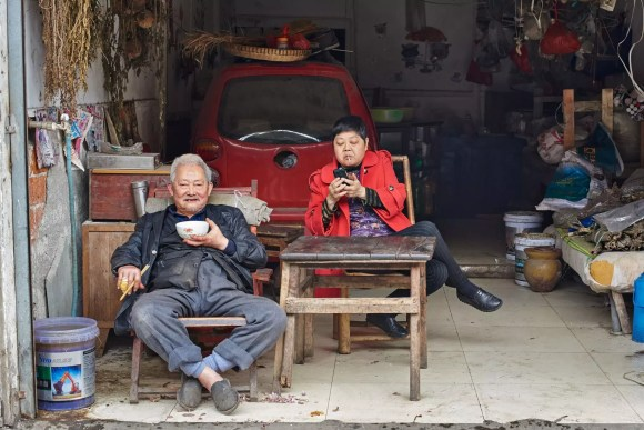 Local doctor Sichuan China by Simon Urwin