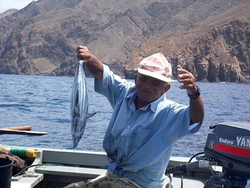 Fishing on Brava, Cape Verde by Murray Stewart