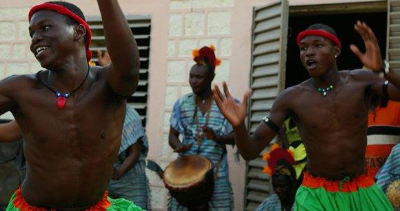 Local dancers Burkina Faso Africa © Katrina Manson and James Knight
