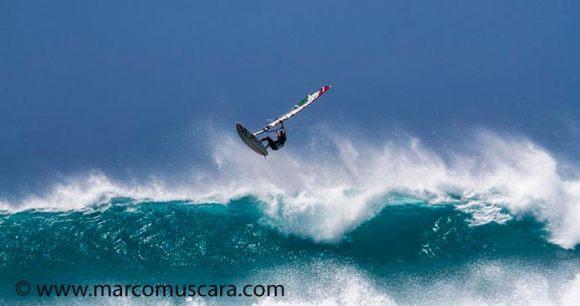 Windsurfer Ponta Preta Sal Cape Verde by Marco Muscara