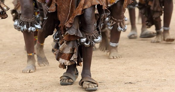 Bull-jumping ceremony, Hamar, Ethiopia, Africa by Dietmar Temps, Shutterstock
