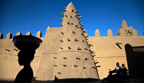 Djingareyber Mosque, Timbuktu Mali by United Nations Photo, Flickr