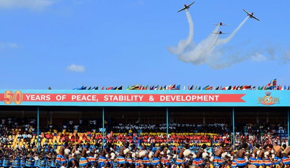 Stunt planes fly past, Swaziland by Sophie Ibbotson
