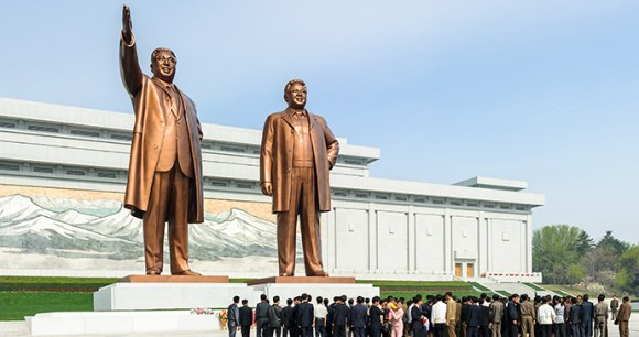 Mansudae Grand Monument Pyongyang North Korea by Anton Ivanov, Shutterstock