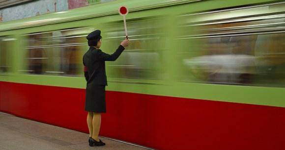 Pyongyang Metro Pyongyang North Korea by Carl Meadows
