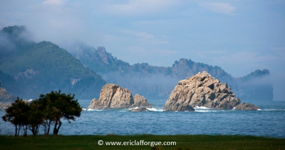Rugged beaches along the coast of Chilbo, North Korea by Eric Lafforgue, www.ericlafforgue.com