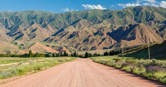 Road, Tien Shan, Kyrgyzstan by Evgeny Dubinchuk, Shutterstock
