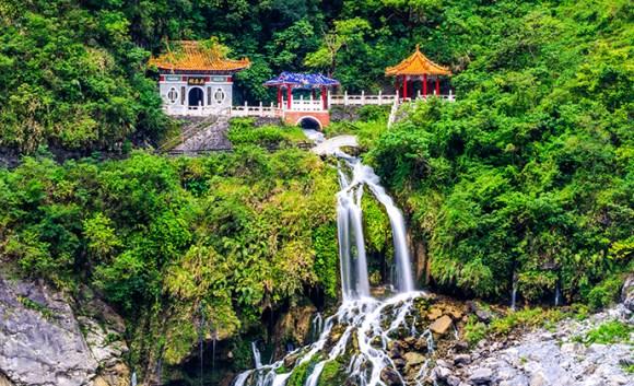 Eternal Spring Shrine Taroko Gorge Taiwan by FenlioQ Shutterstock