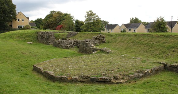 The remains of Cirencester's Roman wall © Anna Moores