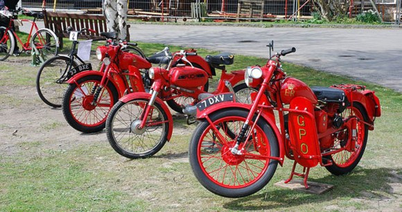 Royal Mail motorcycles, Amberley Museum, Sussex, England by Allen Watkin