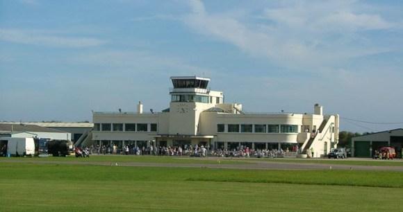 Shoreham Airport, Brighton, Sussex, England by Shoreham Airport's terminal building © Les Chatfield