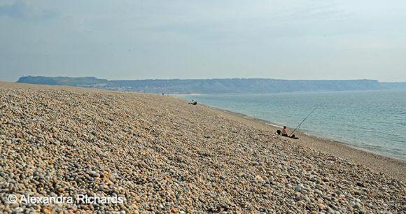 Chesil Beach Dorset British Isles by Alexandra Richards