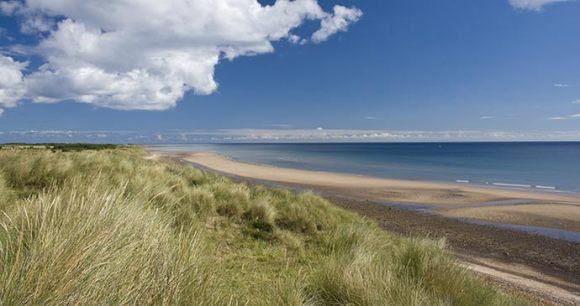 Druridge Bay Northumberland British Isles by H Athey shutterstock