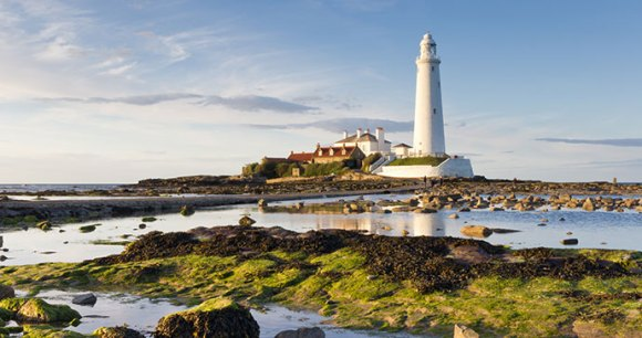 St Mary's lighthouse, Whitley Bay, Northumberland, England by Dave Head, Shutterstock