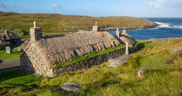 Gearreanean Blackhouse Village Outer Hebrides Scotland by