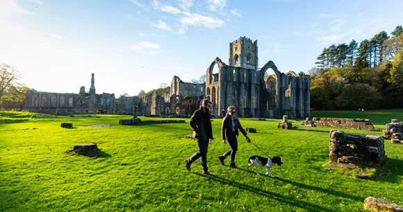 Fountains Abbey Yorkshire England UK by National Trust, Chris Lacey