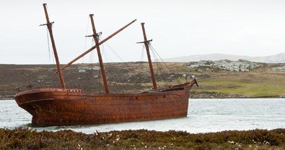 Lady Elizabeth wreck, Stanley, Falkland Islands by benmoat, Shutterstock