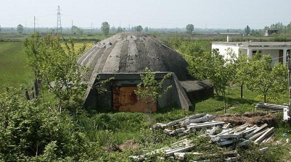 Pillbox, Albania by kopaszsop, Wikimedia Commons