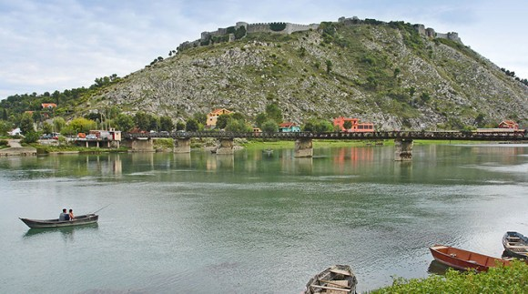 Castle in Shkodra, Albania by Christian Guthier, Wikimedia Commons