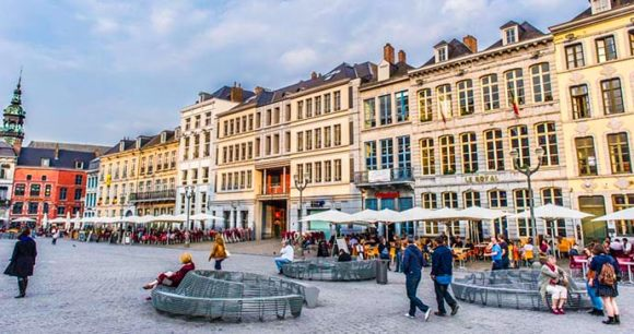 The main square Mons Belgium Europe by Visitmons/Gregory Mathelot