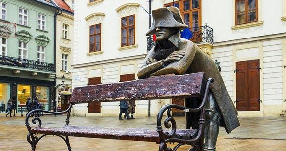 Statue Napoleonic Soldier Bratislava Slovakia by dimbar76, Shutterstock
