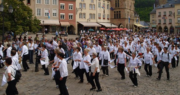 Dancing Procession Echternach Luxembourg by Tim Skelton