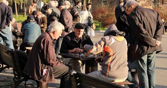 Chess, Kalemegdan, Belgrade, Serbia by Laurence Mitchell