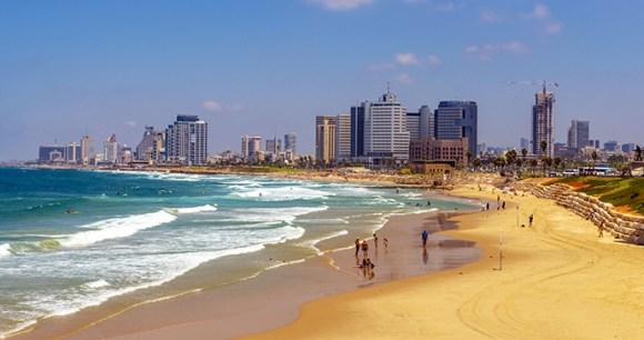 Beach Tel Aviv Israel by Igor Rogkow, Dreamstime