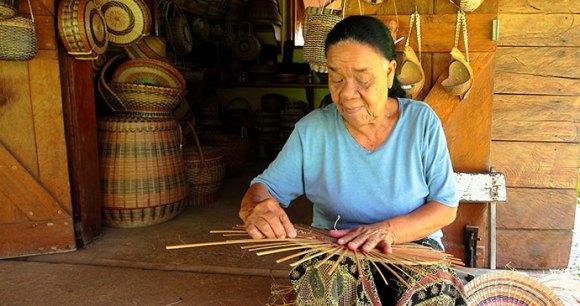 Kalinago basket weaver Dominica by Paul Crask