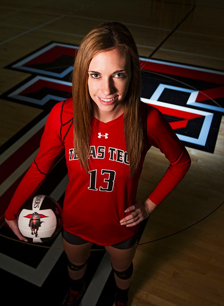 Texas Tech's Aubree Piper is the lone returning senior on the Texas Tech volleyball team this season. Piper has played in every set this season and leads the team in kills.