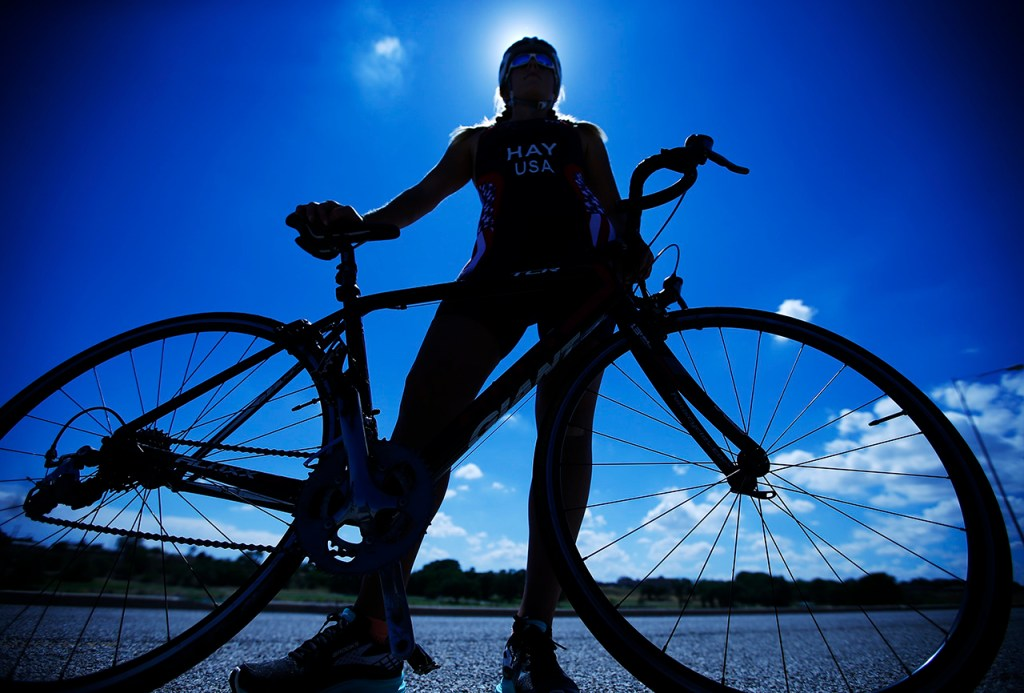 Jenna Hay, from North Richland Hills, is competing in the Powerman World Champs duathlon in Zofingen, Switzerland on September 4, 2016. Powerman Zofingen has three segments, 10 kilometer run, 150 kilometer bike ride, and a 30 kilometer run. Pictured at Mae Simons Park Friday, Aug. 12, 2016, in Lubbock, Texas.