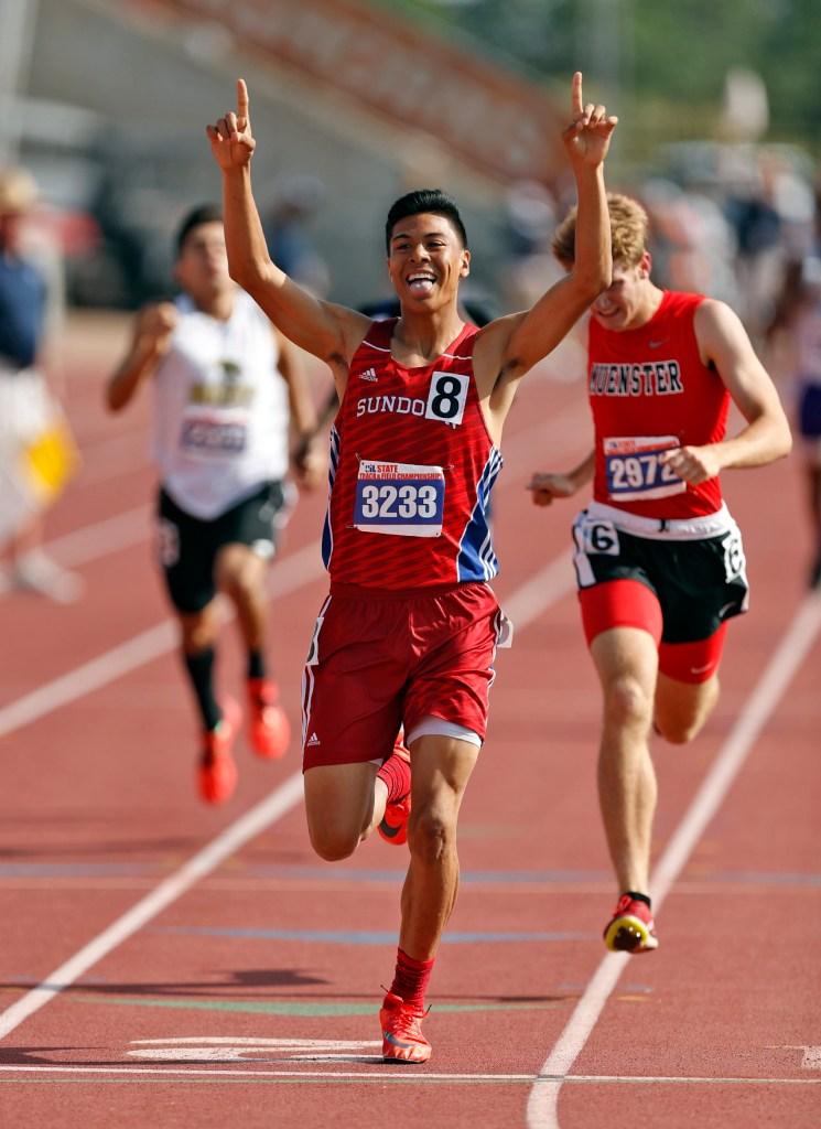 Sundown's Steven Quintanilla runs around the track in the 800 meter run during the UIL State Track and Field meet, Saturday, May 12, 2018, at Mike A. Myers Stadium in Austin, Texas. [Brad Tollefson/A-J Media]