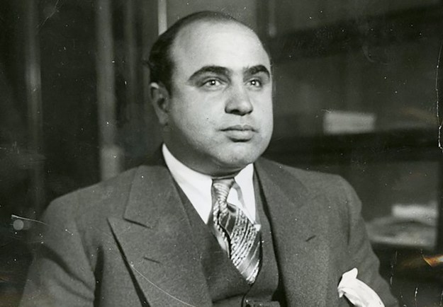 Capone following his arrest on a vagrancy charge in 1930.