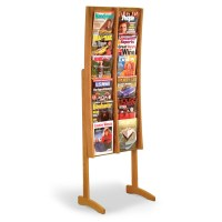 12 Pocket Floor Standing Magazine Rack